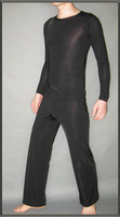 Male sleepwear sexy home casual sleepwear viscose ultra-thin long-sleeve set sleepwear 1589