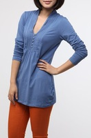 Free Shipping High Quality 4XL Plus Big Size Comfortable Long Sleeve Front Button Elegant T-shirts SY120555