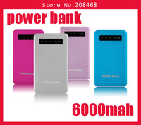 High Quality Universal Ultra-thin Metal 5000mAh Power bank battery Charger for apple iphone samsung galaxy Note s3,