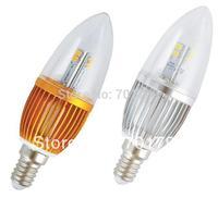 E14 3W LED candle light,250lm,warm white/white;AC85-265V input