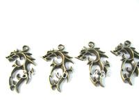 NEW Promotionfl dragon Shape Pendant  Antique Bronze Plated Charms Pendant Zinc Alloy Fit Necklace and angel151240