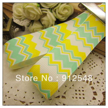 "blw0022013 New Spring ribbon 1""(25mm) Wholesale Print wave line Grosgrain Ribbon DIY headgear ribbon 10 yards/roll undee,blw004"