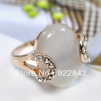 Royal vintage accessories natural crystal moonstone ring index finger female ring