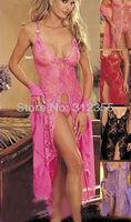 SD9043 Free shipping!Sexy lingeries,Sexy long johns full lace lingeries dress underwear,Women Intimate Sleepwear Nightwear