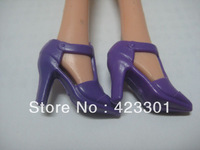 2013 New Arrival 200 Pairs Pretty Purple High-heel shoes dolls' shoes Free ship