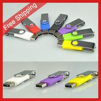 Free Shipping 4GB 8GB 16GB 32GB 64GB Spin Flash disk Swivel Flash Drive