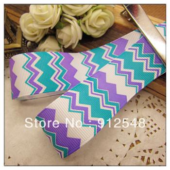"2013 New Spring ribbon 1""(25mm) Wholesale Print wave line Grosgrain Ribbon DIY headgear ribbon 10 yards/roll undee"