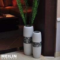 Fashion modern home decoration ceramic brief large floor vase decoration flower high temperature ceramic