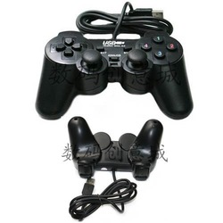 Usb vibration game controller usb singles handle computer game controller(China (Mainland))
