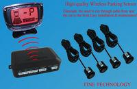 free shipping brand new 12v 4  18.5diameter ultrasonic waterproof sensor LCD human voice alert wireless parking sensor  system