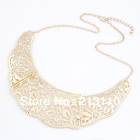 New Arrival Exaggerated Handmade Gold Plating Collar Necklace Jewelry Free Shipping