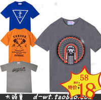 HARAJUKU fashion west coast hiphop hip-hop hiphop male 100% cotton classic street t-shirt short-sleeve