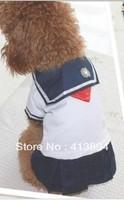 Wholesale + Free Shipping! Nice Popular Summer Cotton Pet Clothes Dog Clothes School Uniform