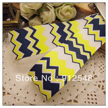 "blw0022013 New Spring ribbon 1""(25mm) Wholesale Print wave line Grosgrain Ribbon DIY headgear ribbon 10 yards/roll undee,blw003"