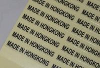 10000 pcs Made In Taiwan Made in Hongkong  transparent PVC vinyl origin stickers, Free shipping