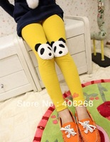 free shipping  2013 new best quality fashion candy color  skinny Children leggings panda head girl's leggings child's trousers