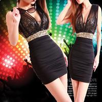 2014 limited real freeshipping cotton chiffon sheath o-neck charming women sheer mesh stretchy slim fit elegant cocktail  dress