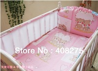 2013 Summer cool 4 pieces baby crib/cot bedding set Kids crib bedclothes around Sandwich elastic breathable bed tent Hot selling