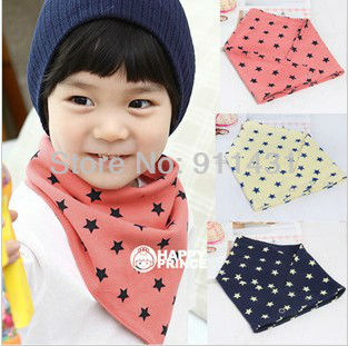 Free Shipping Wholesale 10pcs/lot 2013 New TOP Baby Bib 100%Cotton Star Infant Triangle Towel Saliva Towel Baby Accessories Ba11(China (Mainland))