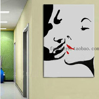Hand-painted oil paintings, madly in love couple style, wall decoration painting in fashion now