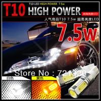 Super Bright 7.5W LED SMD T10 LED Car Light Bulb Lamp Clearance Lights White Color Free shipping led car lamp light
