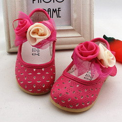 Free shipping! Sandals 2013 big flower cutout breathable princess small single shoes 1 - 3 years old summer toddler shoes(China (Mainland))