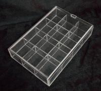 12 acrylic storage box jewelry box jewelry tray lid 0.24