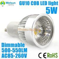 30X Hot Sale! Free Shipping LED Bulb Dimmable 5W COB GU10 LED Spot Light