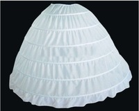 white 6 hooped wedding bridal petticoat underskirt crinoline