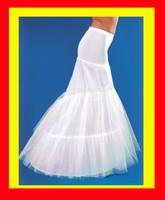 2 hoop mermaid white fishtail wedding dress petticoat crinoline