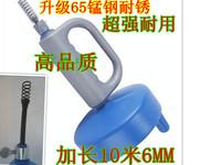 Gloves 10 meters 65 manganese steel toilet pipeline dredge device sewer dredge device 10 meters 7