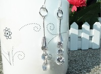 brand designer earring18K white Gold plated  Drop Earrings 1pair  Freeshipping