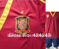 New arrived 13-14 season Thailand quality Spains home soccer jerseys free shipping free to print any name and number you want