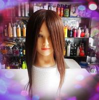 cosmetology mannequin heads Real hair headform head model doll head false head hair maker . mount