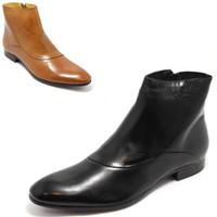 [(My God)] Free shipping 2014 New arrival Fashion leather high fashion luxury men's boots short denim high taojian black