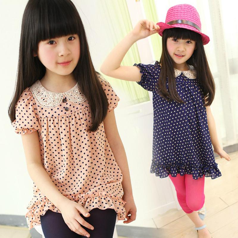 ملابس الاطفال صيف 2013 Summer-children-s-clothing-female-big-boy-polka-dot-puff-sleeve-t-shirt-shirt-child-cute.jpg