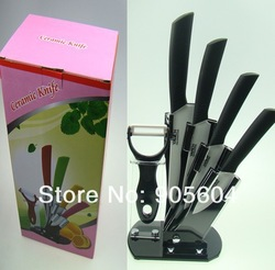 3&quot;+4&quot;+5&quot;+6&quot;+Peeler+ Knife Holder Ultra Sharp Kitchen Ceramic Cutlery Knives Set(China (Mainland))