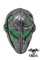 "FMA steel mesh ""Knights Templar"" black gold (GREEN) mask / dance mask Tb564 free shipping"