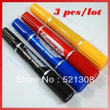 Free Shipping 3pcs/lot Electric Shock Trick Gag Marker Pen Toy Joke Funny Gift