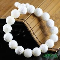 The whole network natural tridacna bracelet white lotus tridacna bracelet 10-12mm