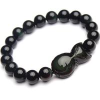 Natural obsidian fox bracelet apotropaic peach anti lilliputian fox bracelet