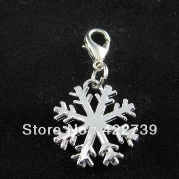 Free shipping 20pcs Snowflake Pet ID Tag DIY Hang Charms Pendant Zinc Alloy 100% Brand New pet products- dog tag-dog(China (Mainland))