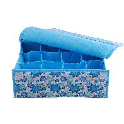 12 soft storage box blue small flower(China (Mainland))