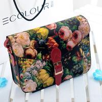 Oil painting bag flower bag 2013 female fashion vintage messenger bag briefcase one shoulder cross-body fashion women's handbag