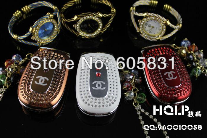 2014 hot sale New unlocked Mini luxury cell phone Ladies girl gift Fashion Russian keyboard Diamond mobile PHONE Free shipping(China (Mainland))