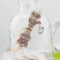 Stock South Korea imported genuine full drill double bow bracelet zircon zircon bracelet ex-factory sales