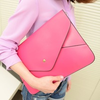 Fashion color block messenger bag messenger bag briefcase file  envelopeday clutch   female bags, free shipping