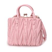 2014 ruffle messenger bag pink big Small