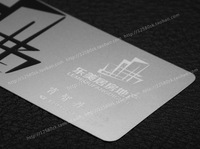 Personalized real estate quality wire drawing stainless steel business metal card