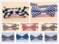 Excellent quality,NEW Arrival Mens Cotton/Polyester Adjustable Neck plaid Bowtie Men business fashion wedding Bow Tie,16colors